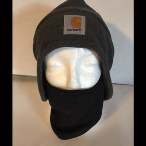 Carhartt Men's Gray Fleece 2-1 Headgear Hat